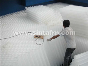 305mm-1220mm size counter-flow cooling tower infill pvc cooling tower fill packing