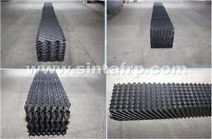 double pvc corrugated cooling tower fills