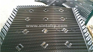 pvc black gray water cooling tower pvc fill 800mm